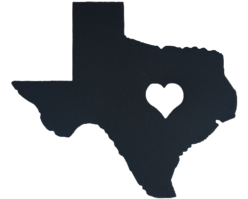 Heart of Texas Black Wall Emblem