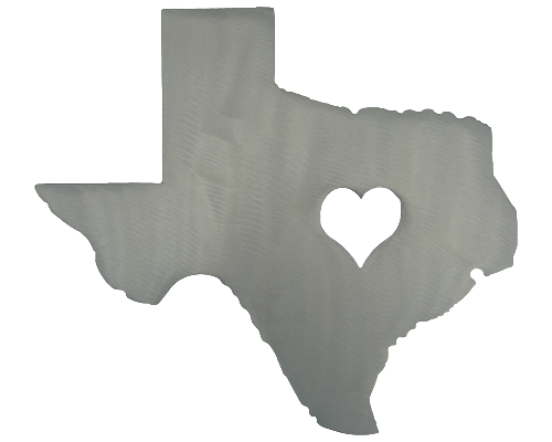 Heart of Texas Silver Wall Emblem