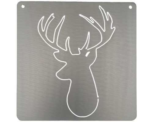 Deer Head Silver Metal Mantra