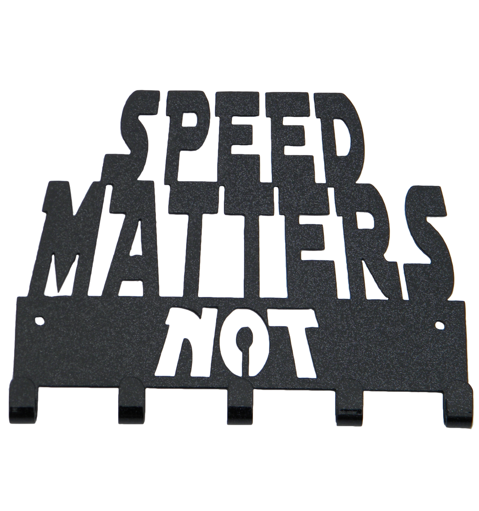 Star Wars Speed Matters Not 5 Hook Black Sparkle Medal Hanger