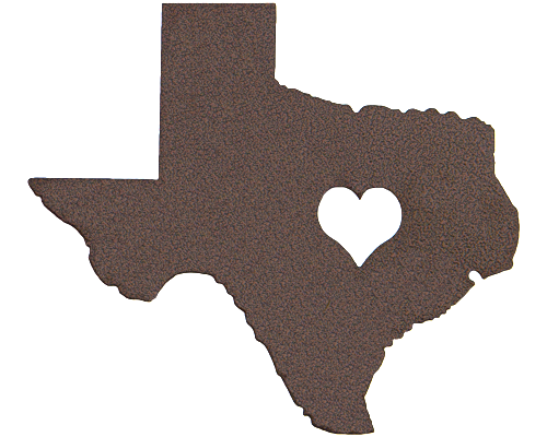 Heart of Texas Bronze Wall Emblem