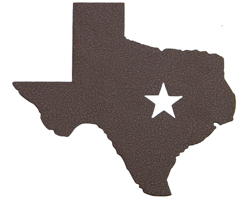 Texas Star Bronze Wall Emblem