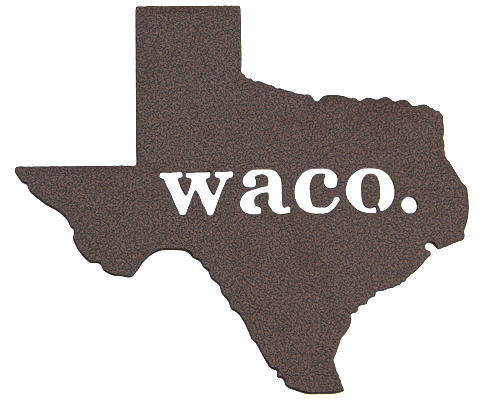Texas Waco Bronze Wall Emblem