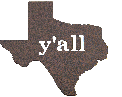 Texas Y'all Bronze Wall Emblem