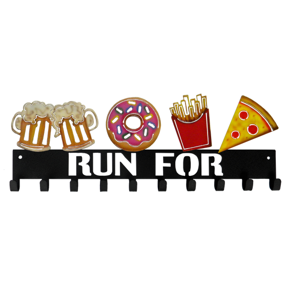 Run For Beer, Donuts, Fries and Pizza SportHooks Medal Hanger
