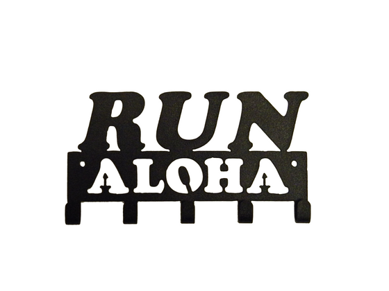Run Aloha 5 Hook Honolulu SportHooks Marathon Medal Display