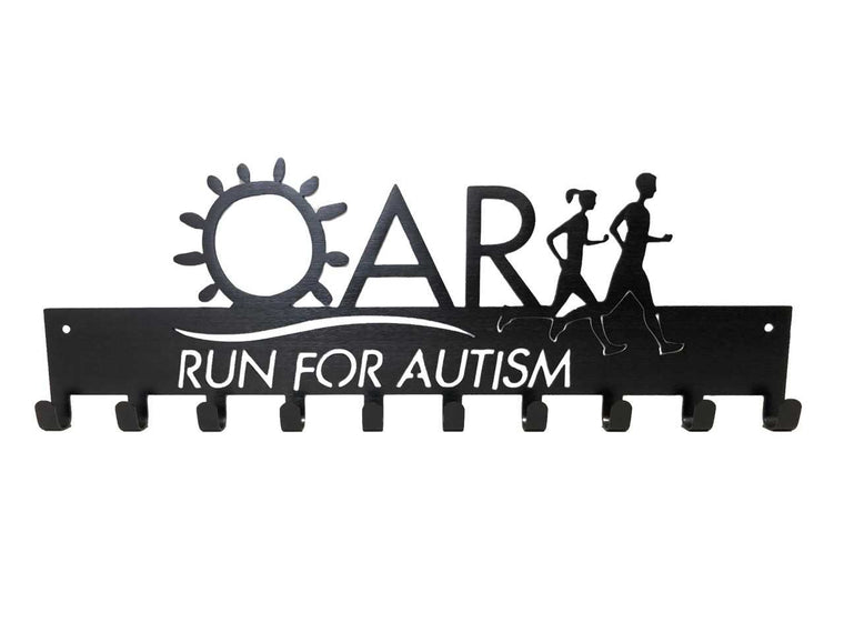 Run For Autism SportHook - Medal Holder, Medal Hanger
