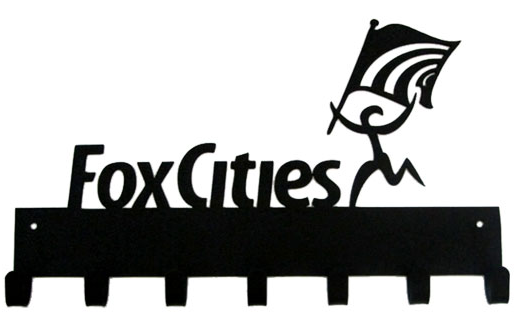 Fox Cities Marathon Black 7 Hook Medal Hanger