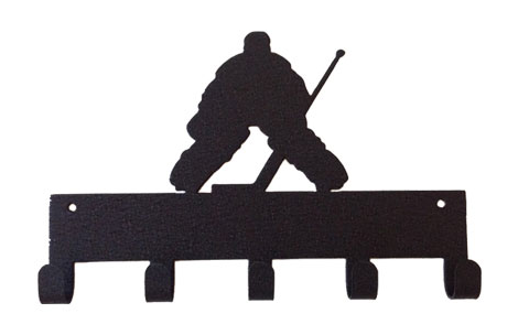 Hockey Goalie Sports Black 5 Hook Medal Display Hanger