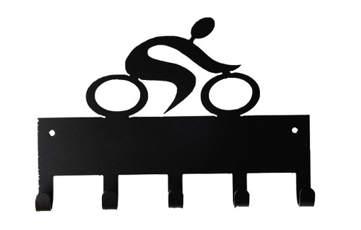 Cycling Unisex Riding Bike Black 5 Hook Medal Display Hanger