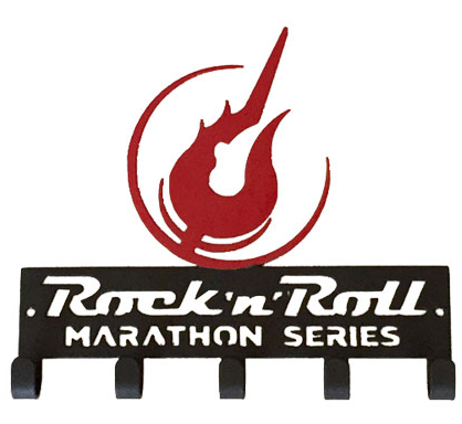 Rock 'n' Roll Marathon Series Guitar - Red and Black Medal Hanger