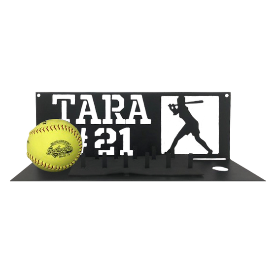 Softball Ring and Game Ball Display