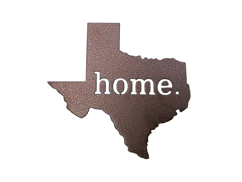 Texas Home Bronze Wall Emblem Custom