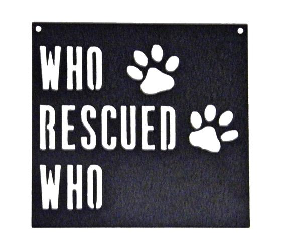 Rescue Dog - Metal Sign