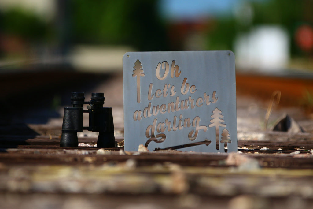Metal Sign Let's Be Adventurers - SportHooks