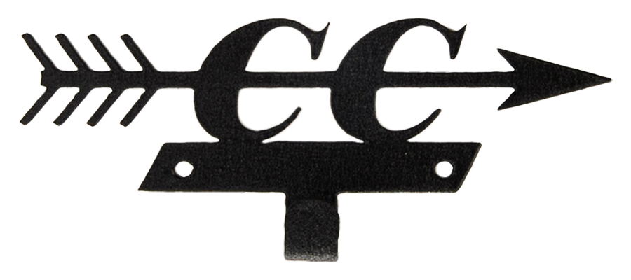 Cross Country & Arrow Black 1 Hook Medal Display Hanger