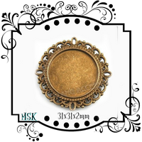 Antique bronze Round photo frame