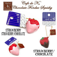 Cafe de N Chocolate fondue Strawberry squishy