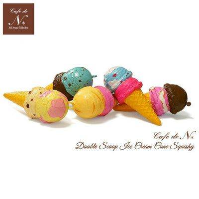 Cafe De N Double Scoop Ice Cream Squishy