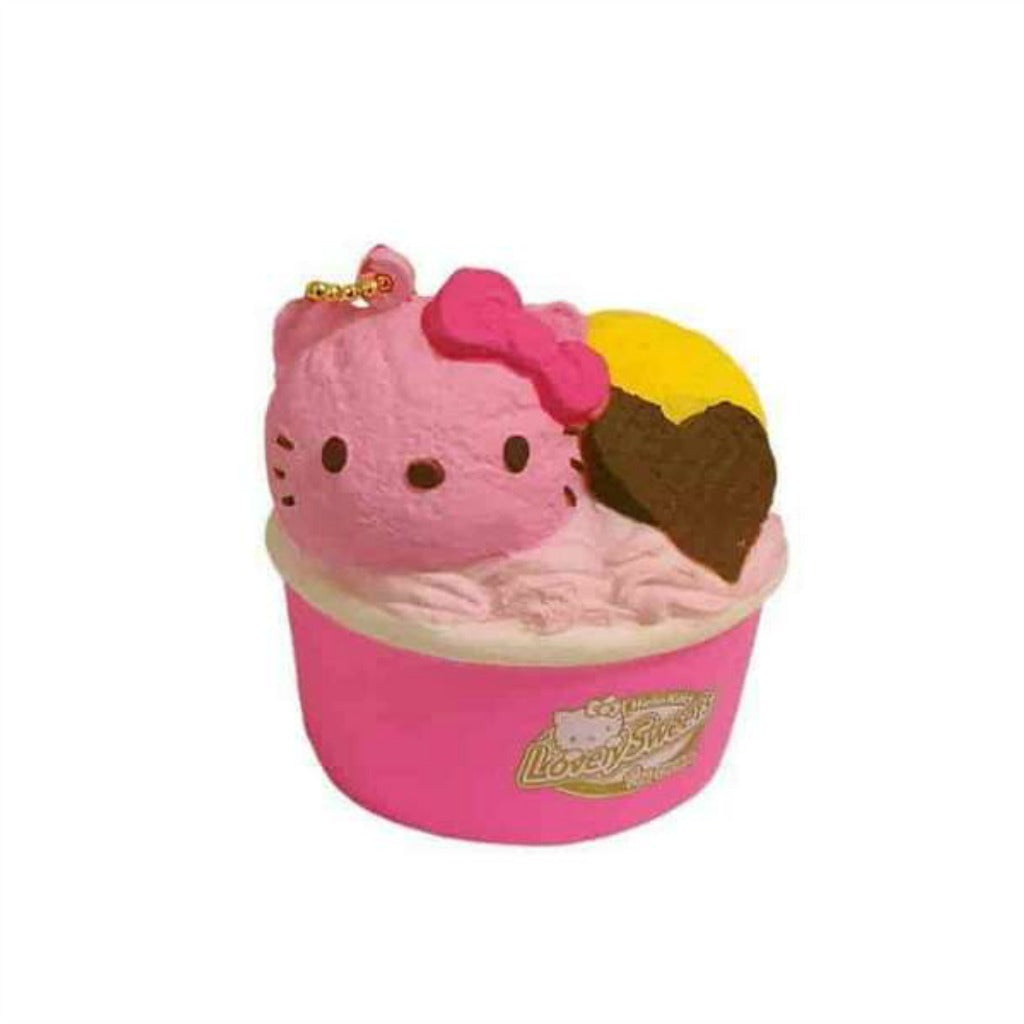 Hello Kitty Lovely Sweets Strawberry Ice Cream Cup Squishy