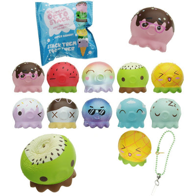 Puni Maru Octopus Magnet Stack Ice Cream/Cone Squishy