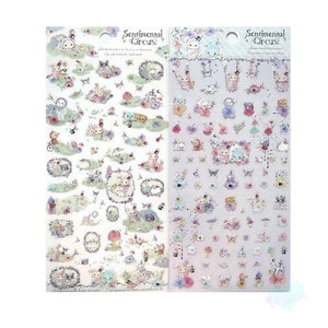 San-X Sentimental Circus transparent Garden stickers