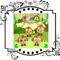 Puni Maru Baby Cheeki Monkey Squishy