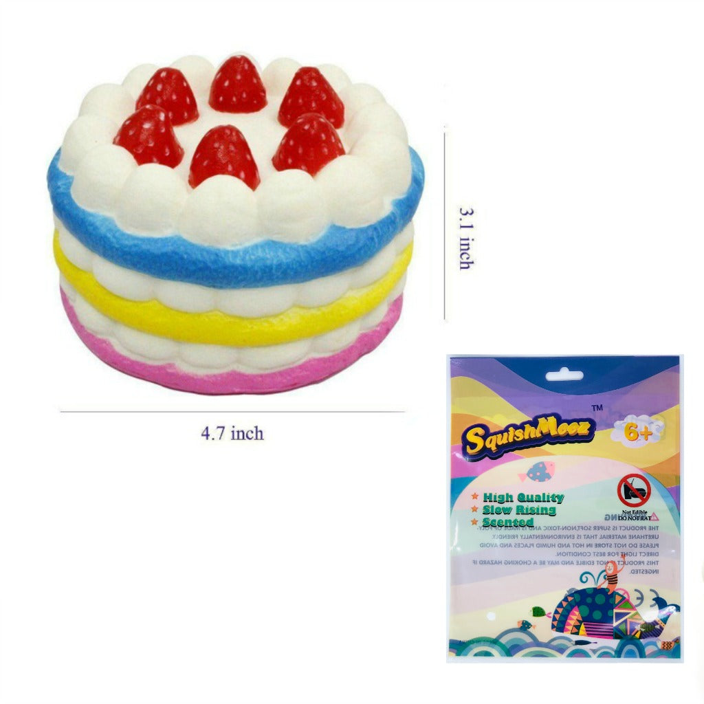 Rainbow Strawberry Jumbo Cake Squishy