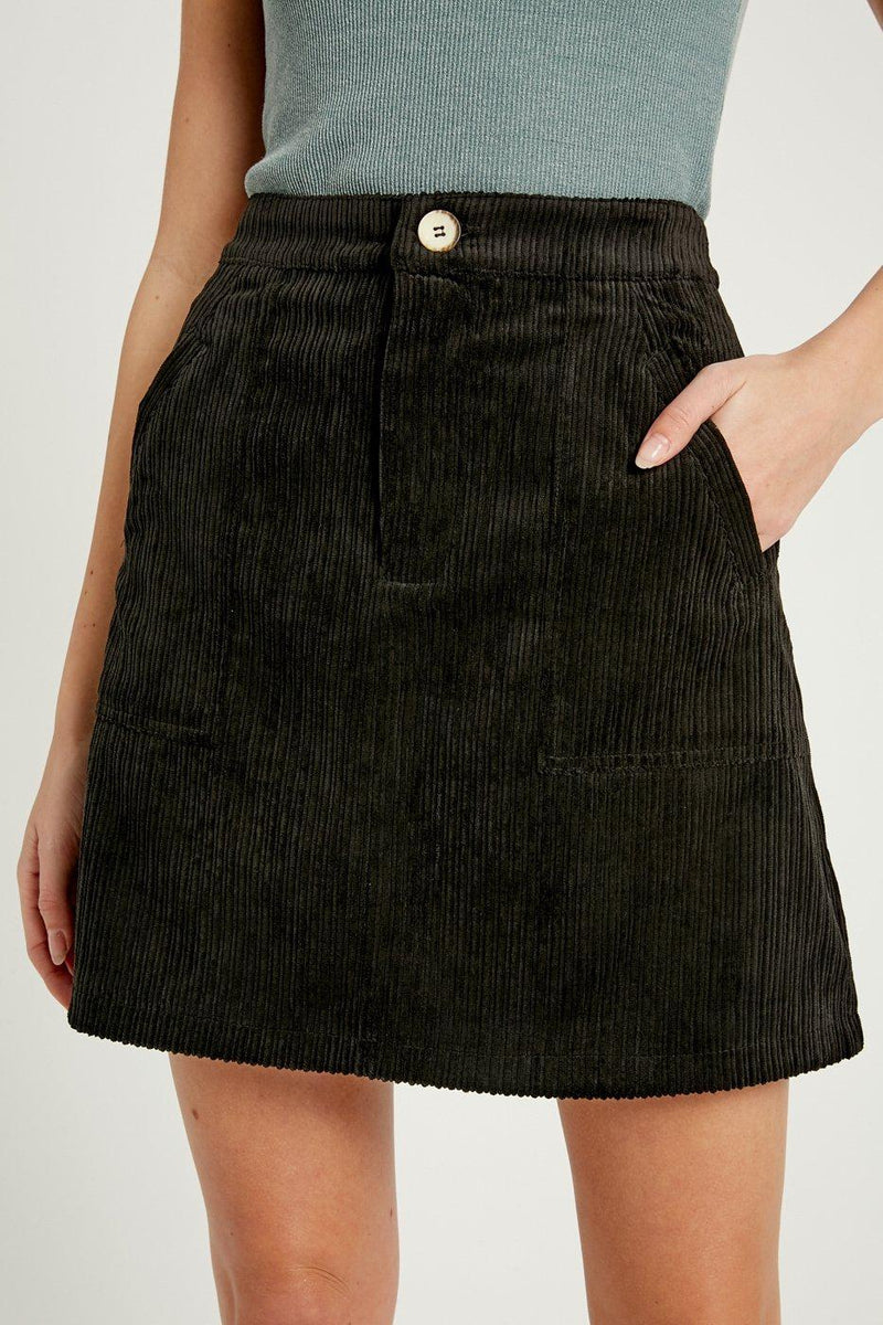 Kenna Corduroy Mini Skirt