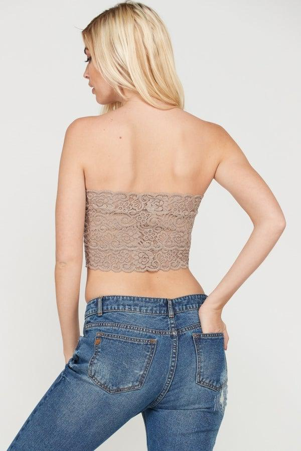 CoCoa Scalloped Bandeau - Gallery 512 Boutique