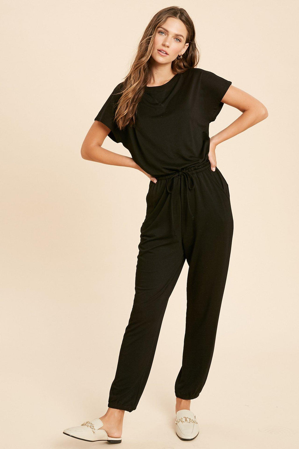 Emberly Casual Knit Jumpsuit