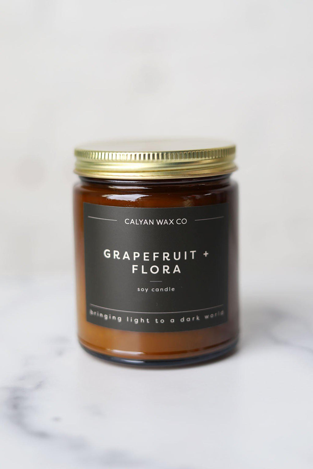 Grapefruit + Flora Amber Jar