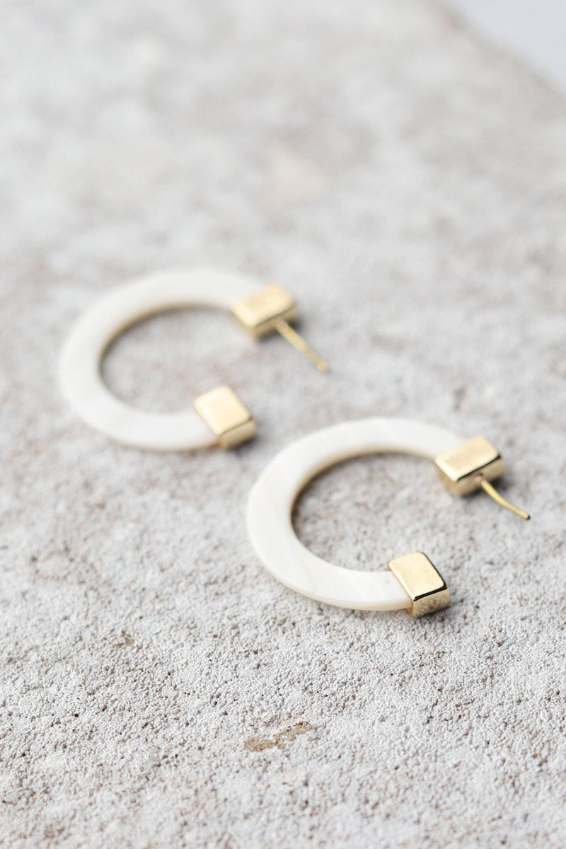 Acrylic Flat Hoop Earrings