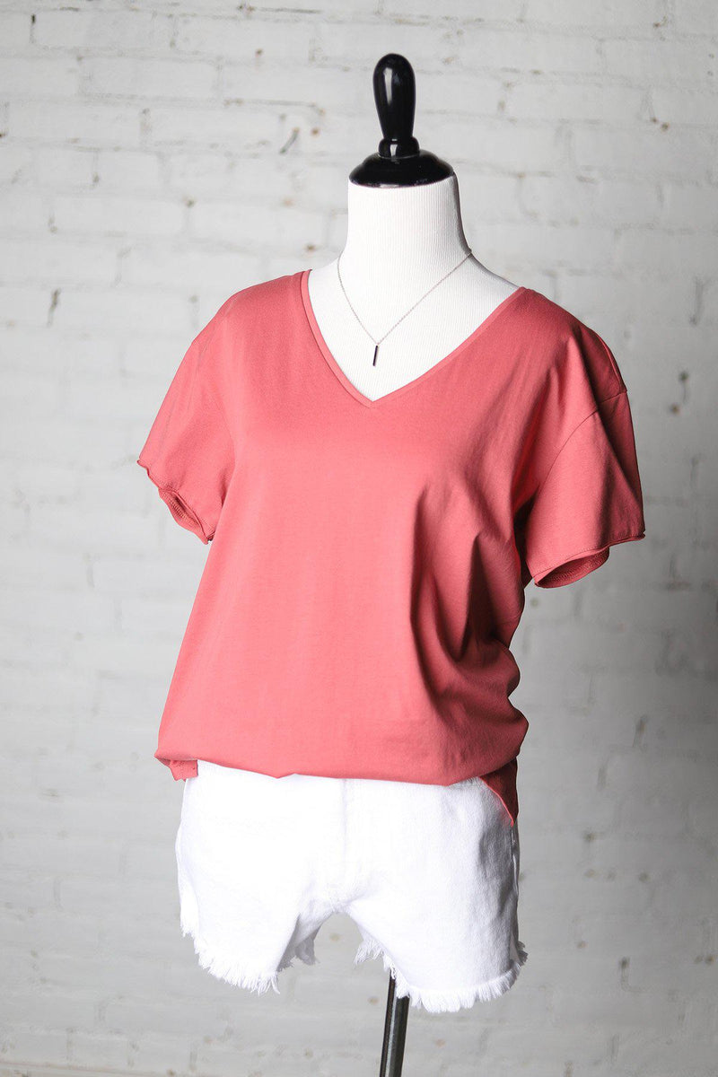 Elly Basic Tee - Brick