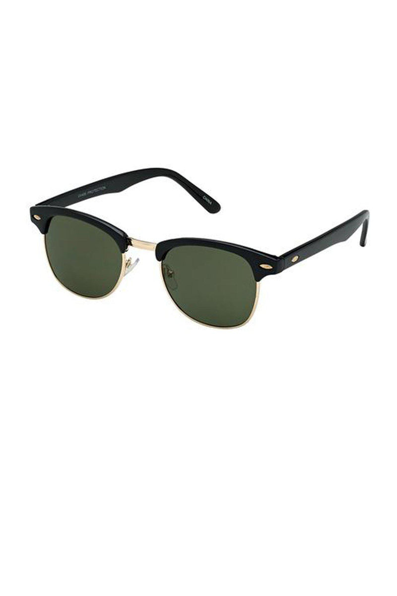 Clubmaster Black Unisex Sunglasses / Grey Green Lens - Gallery 512 Boutique
