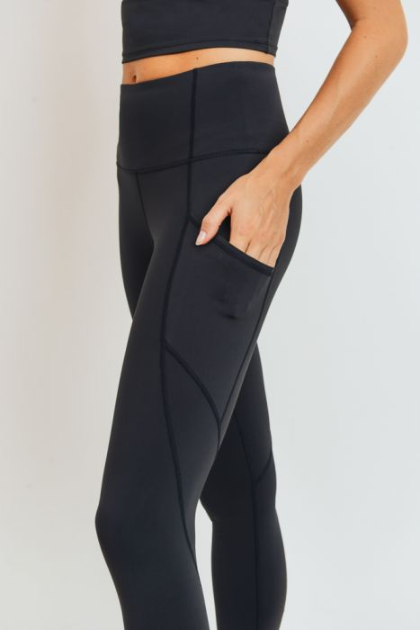 Cora Solid Panels Highwaist Leggings