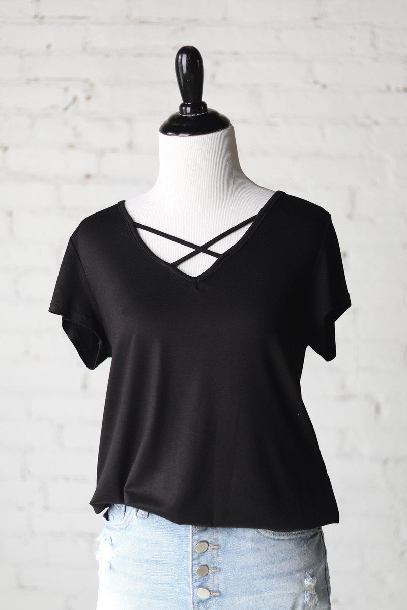 Kaia Criss Cross Front Top