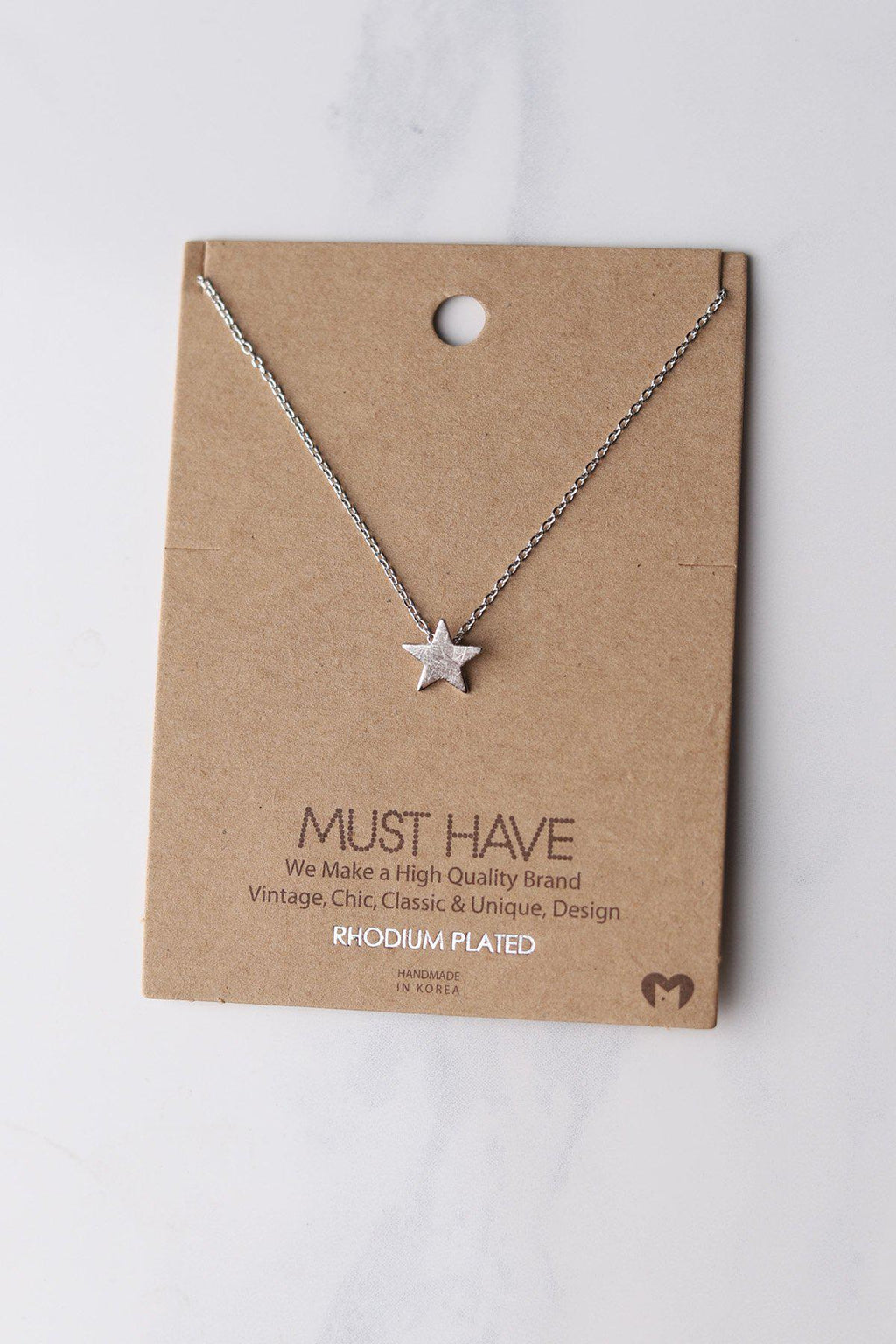 Simple Star Necklace - Silver