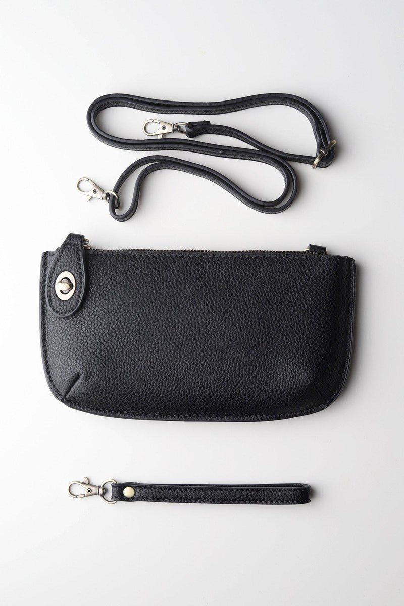 Wristlet Clutch / Black - Gallery 512 Boutique