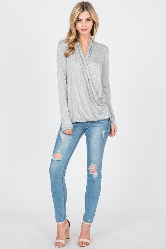 Oaklyn Jersey Surplice Top