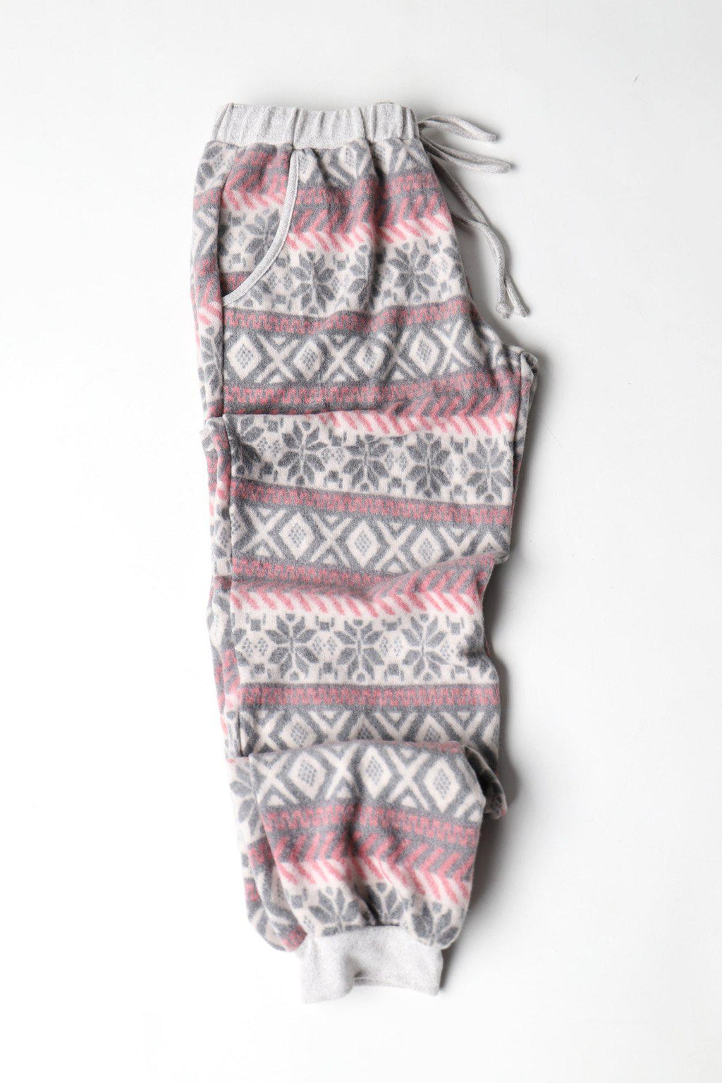 Aspen Fleeced Christmas PJ Bottoms - Wine/Black