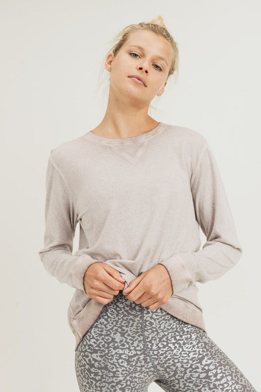 Dusty Pink Mineral Wash Pullover