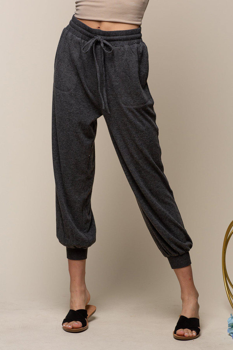 Truly Brushed Comfy Jogger - Charcoal