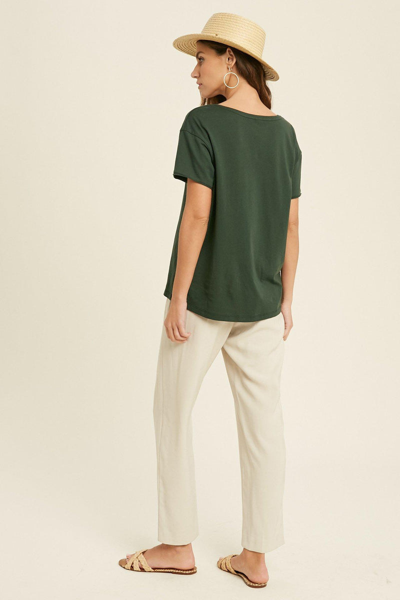 Elly Basic Tee - Green