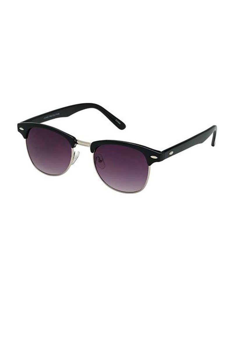 Clubmaster Black Unisex Sunglasses / Smoke Lens - Gallery 512 Boutique