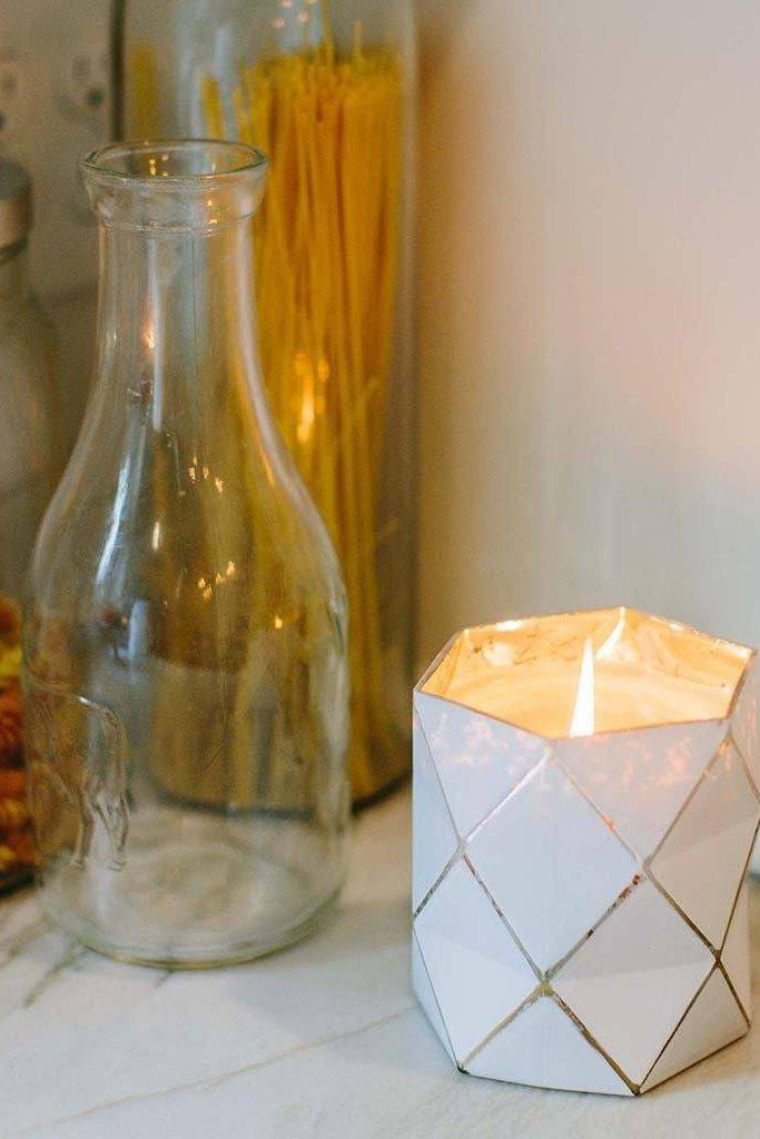 "Geometric Triangle Form ""Sweet Grace"" Candle - Gallery 512 Boutique"