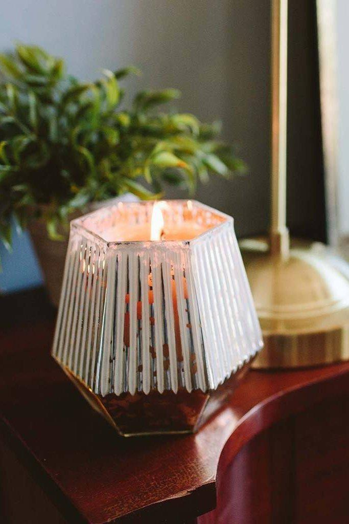 "Silver Geometric ""Sweet Grace"" Candle - Gallery 512 Boutique"