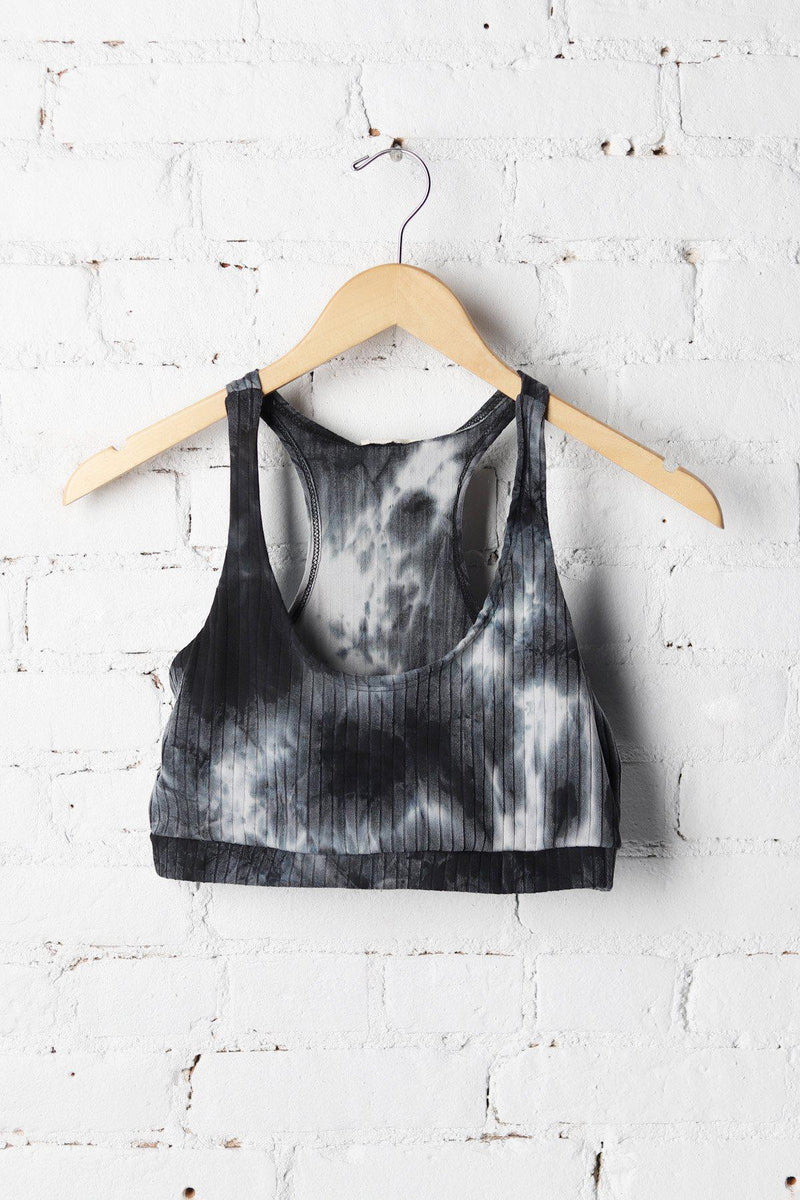 Tie-dye Ribbed Sports Bra