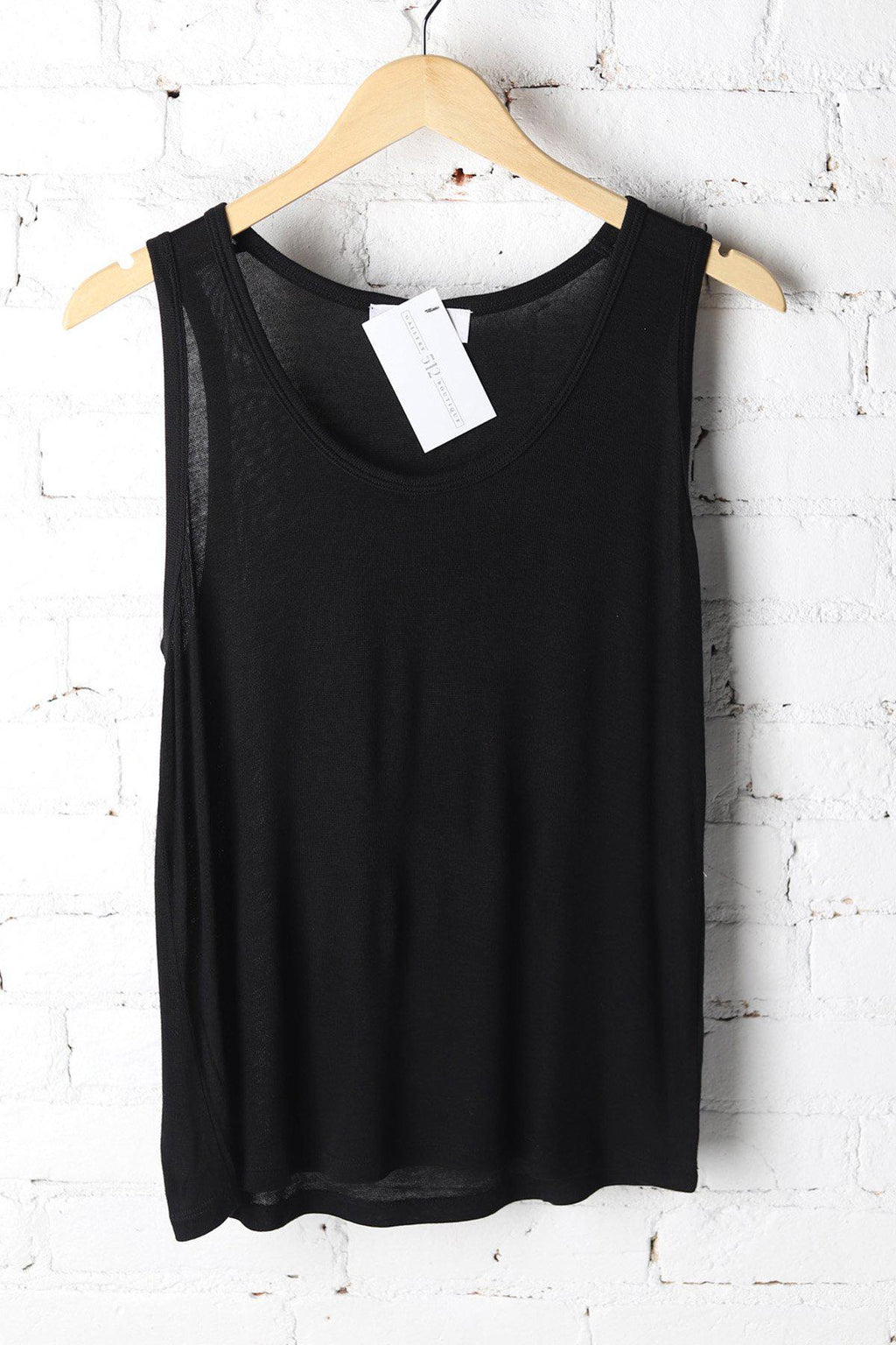 Holland Black Scoop Neck Tank - Gallery 512 Boutique