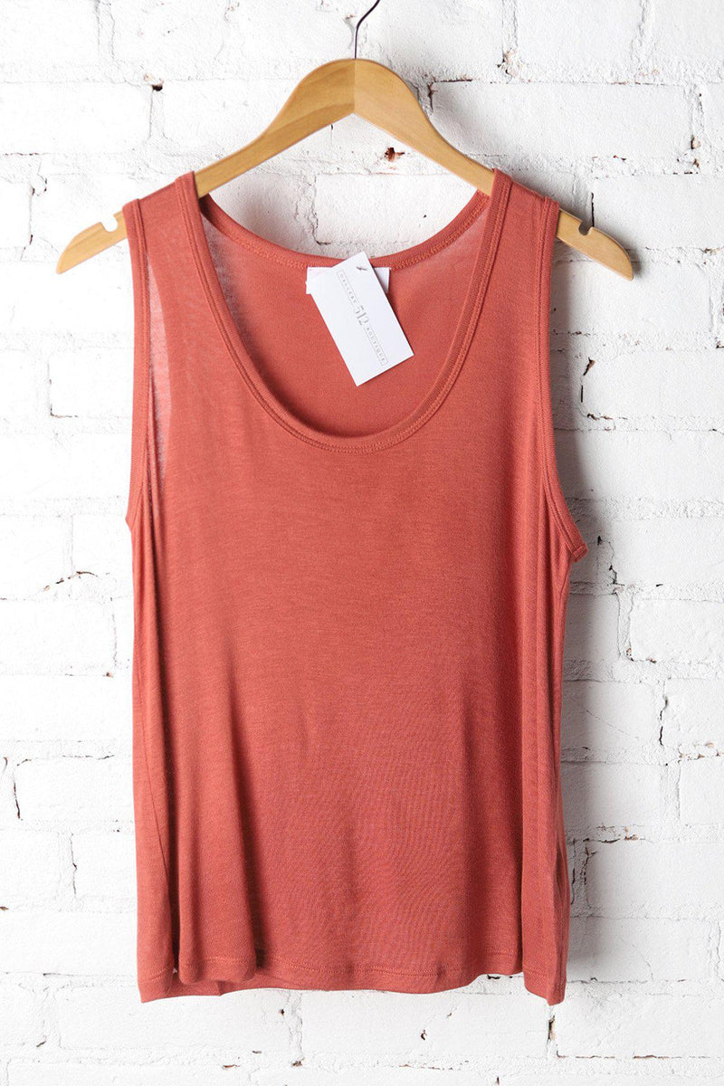 Holland Terra Cotta Scoop Neck Tank - Gallery 512 Boutique